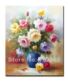 Free shipping!!High Quality Unique 100% original hand-painted flower oil painting 020