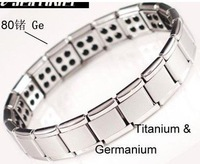 Amazing energy! 80 Germanium stone! Titanium bracelet