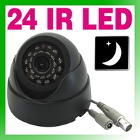 "free shipping 1/3"" lens 24 LED IR Night vision indoor Dome Camera color CCTV Camera Security Camera (P/N64 XM)"