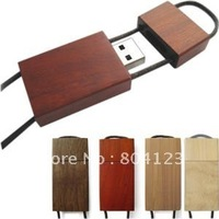 16GB Wooden lanyard USB flash disk USB flash drive  free shipping