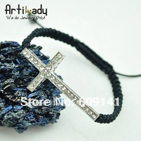 Exclusive on Artilady  sideways cross side way cross  shamballa bracelet new arrival fashion