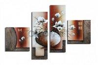 Huge vase flowers art handmade Abstract mordern oil paintings on canvas, wholesale oil paintings oLo PS_041