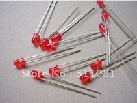 Free shopping 100pcs 3mm Round diffused Red LED Light