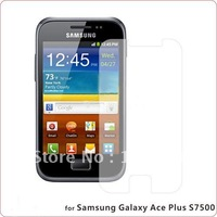 50pcs/lot&free shipping New Clear LCD Flim Screen Protector For Samsung Galaxy Ace Plus S7500