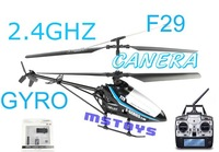 New arrived Camera included MJX F29 4ch  2.4G metal helicopter gyro left right throttle r/c heli helicoptor plane