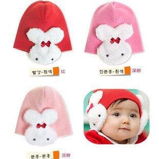 10pcs/lot 30% discount Hot selling children's caps/ beanie hats /cap chapeau/ dicer hat /headgear /baby hat rabbit hoodies/