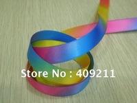 New arrival ! KLS30200 12mm double printed satin rainbow  ribbon +Free shipping ,hair bow,gift ribbon
