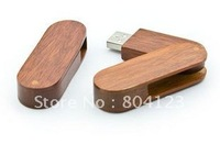 Wholesale 4g 8G 16g 32g 64g Rotation usb stick disk usb flash memory drive bamboo model free shipping
