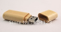 Guaranteed Full Capacity Bamboo Rounded Shell Thumbdrive 32GB USB Flash Memory Pen Drive Disk  Hot sell