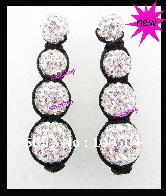 Браслет из бисера 50%off Fashion Shamballa Bracelet Handmade Crystal Disco Ball Beads Tresor Bracelet Jewelry 10Pcs.