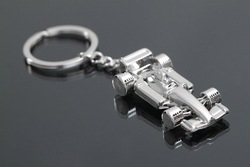 Wholesale Promotion Gifts/ Mini F1 Car Metal Keychains/ Wedding Favors Free Shipment/ 20pcs per lot(China (Mainland))