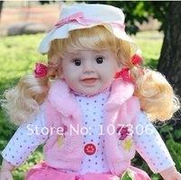 Free shipping Simulation talking doll Holiday gift Christmas gift 24inch baby doll simulation doll