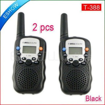 2pcs/pair 0.5W Walkie Talkie UHF T-388 for kids Use Interphone T388 Transceiver Two-Way Radio Mobile Portable Intercom A7027B