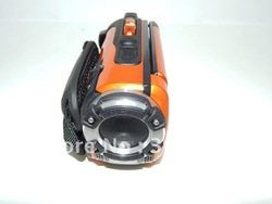 "Waterproof most hot selling ORANGE color 1080P Full HD under water 5meters 16MP digital camcorder with 3.0"" TFT screen(China (Mainland))"