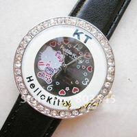 35PCS/LOT  EMS Fashion Hello kitty watches women's watch Ladies watches quartz watch wristwatches 6 colors mix order
