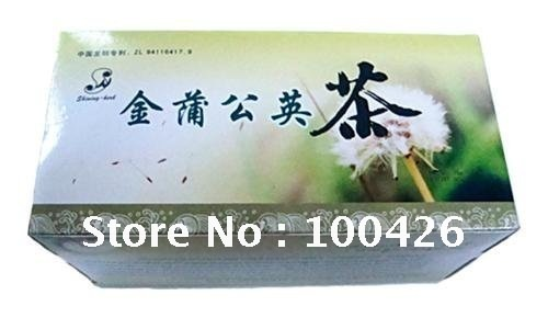 Free shipping 2 boxes (1.5g*24teabags) golden dandelion herbal tea(China (Mainland))