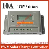 10A,12/24V auto work,Adjustable/ programable solar charge controller/regulator vs1024 with big LCD