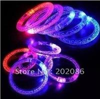 Trialsale 10pcs LED flashing bracelet Party supplier light up bracelet Holiday KTV items free shiping
