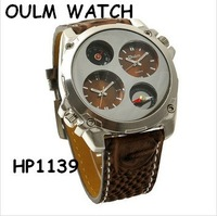 Freeshipping! Genuine OULM HP1139 Cool military sport quartz  watch Analog Men's watch Compass  thermometer wristwatch