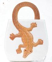 New Hot Fashion Amliya Abstract Lady's Handbags Messenger bags tote bag Crocodile handbag white