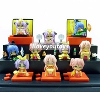 Wholesale - lucky star kagami miyuki konata Japan Anime cute action figure toy lot set 10pcs free shipping