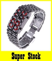 NEW Fashion Steel Lava Men's Iron Samurai LED For Gifts Free Shipping Wholesale