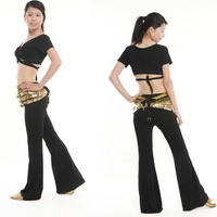 Free Shipping + gifts hot-selling Belly Dance costume set wear with the gifts of breast pad 3pcs/lot black