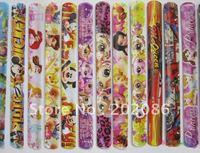 Factory Wholesale Hotsale Mixed Style Cartoon Slap Bracelet Promotional Snap wrap toy 200pcs/lot fast delivery free shipping