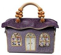 New Hot Fashion Amliya Abstract Lady's Handbags Messenger bags tote bag romatic princess house handbag purple