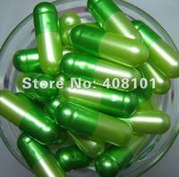 Free shipping (10,000pcs/lot) separated 0# (pearl) dark green/light green capsule,hard capsule,gelatine capsule,empty capsule