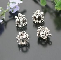 Fashion Jewelry parts metal charms 13*12MM Alloy Crown Pendants 10pcs / lot free shipping