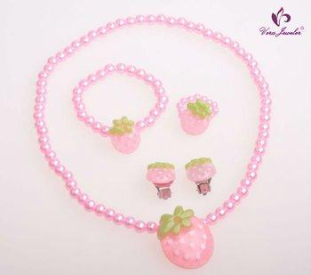 Lovely Strawberry Kids Jewelry  Baby Costume Jewellery Children Jewelry Online Kids' Accessory Lovely Strawberry Kids Jewelry