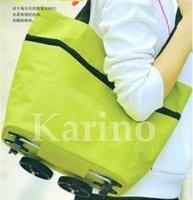 Free Shipping Wholesale Foldable Wheel Shopping Bag Traveling Bag