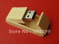 Wooden bamboo box Wholesale genuine capacity usb flash pen drive disk stick pendrive memory   2GB