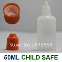 Lot 100 Pcs 50 ml  Plastic CHILD PROOF childproof Dropper Bottles LDPE Dispense Liquids EYE DROPS E CIG OIL