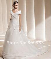 New fashion boutique luxury silk taffeta shoulder bag trailing bridal