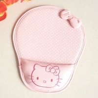 Free Shipping hello Kitty wrist leather mouse pad a lovely three-dimensional bow KT  Mouse pad
