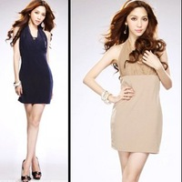 Exclusive Photos! Ladies Universal Declaration of double flat-waist dress dress!fashion dress  free shipping