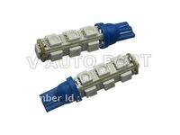 Freeshipping 24months warranty blne anto light T10 13SMD 5050 194 168 192 W5W LED Light Auto Bulbs Wedge Interior