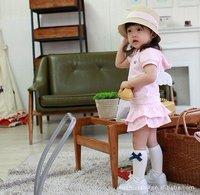 NEW arrive fashion Girl dress suit Wings suit pink short sleeve tops hoody + skirt cake skirt