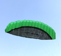 free shipping+green  250 cm soft power kite ,easy to fly and control