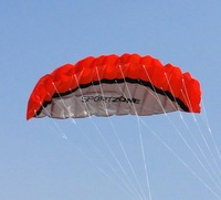 free shipping+red  2.5 m 2 line soft power kite ,easy to fly and control