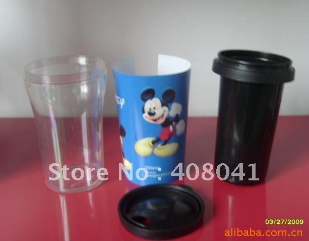 New Design14 Oz Plastic Travel Mug ,insert paper mug,plastic tumbler,promotional cup(China (Mainland))