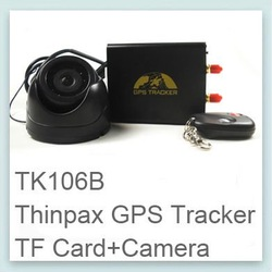 Freeshipping Thinpax TK106B Real time gps tracking system car vehicle gps trackers+ camera gps tracking of cars vehicle(China (Mainland))