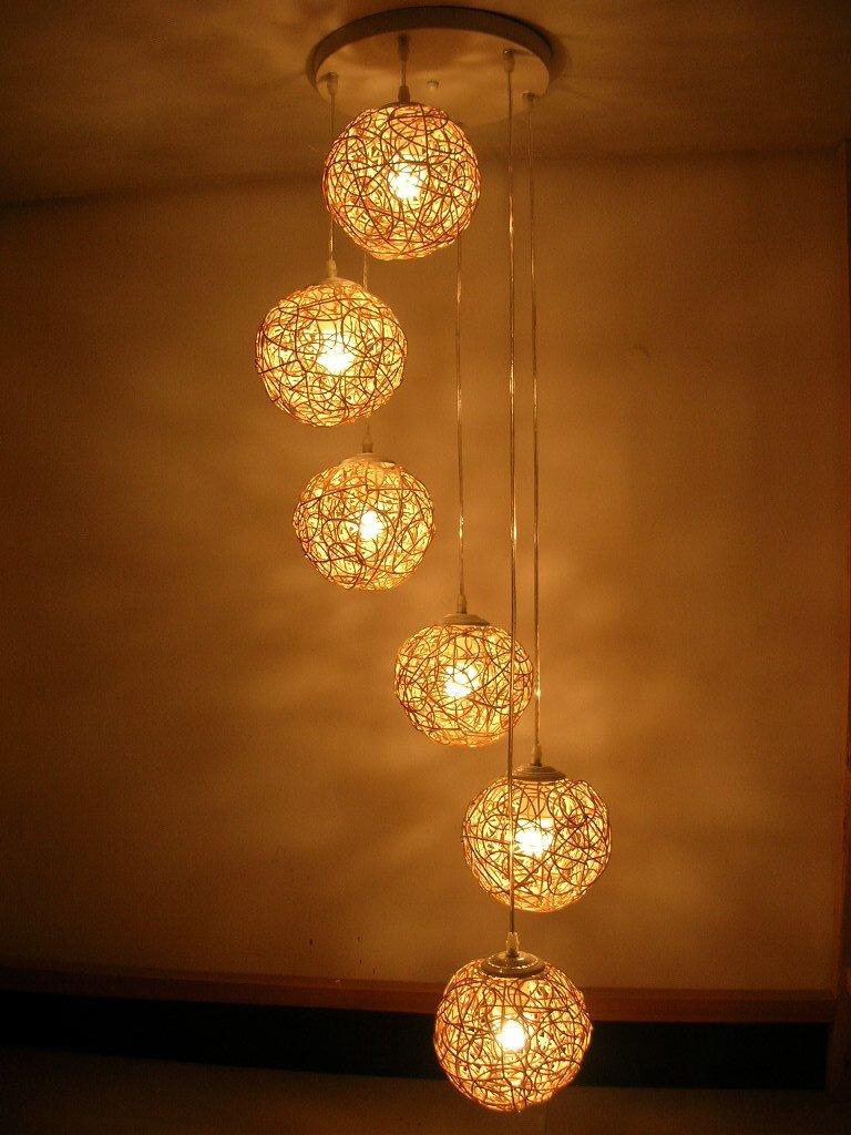 Carved Wood String Lights