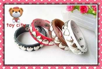 4 Colors Sweet Heart Leather Wrist Belt For 1/4 MSD DZ DOD AOD LUTS BJD Dollfie Free shipping!!!