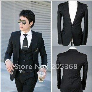 New Men's Suit,Leisure Suit,Brand Name Suit,Casual Men's  Color:Black Size:M-L-XL-XXL