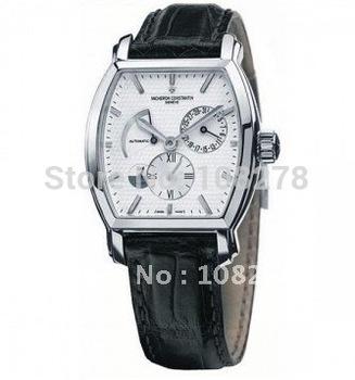 Free shipping Rich collection classic luxurious gift tonneau black watchband mechanical men's wristwatches