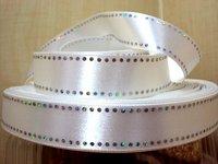 50Y14576-1 1'' Diamond silky satin ribbon wedding free shipping