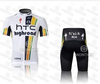 free shipping new fashion HTC white Bicycle Cycling jersey /bike jersey+shorts set /cycling wear